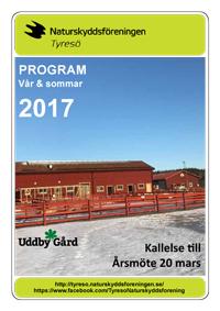 Program för vår och sommar 2017